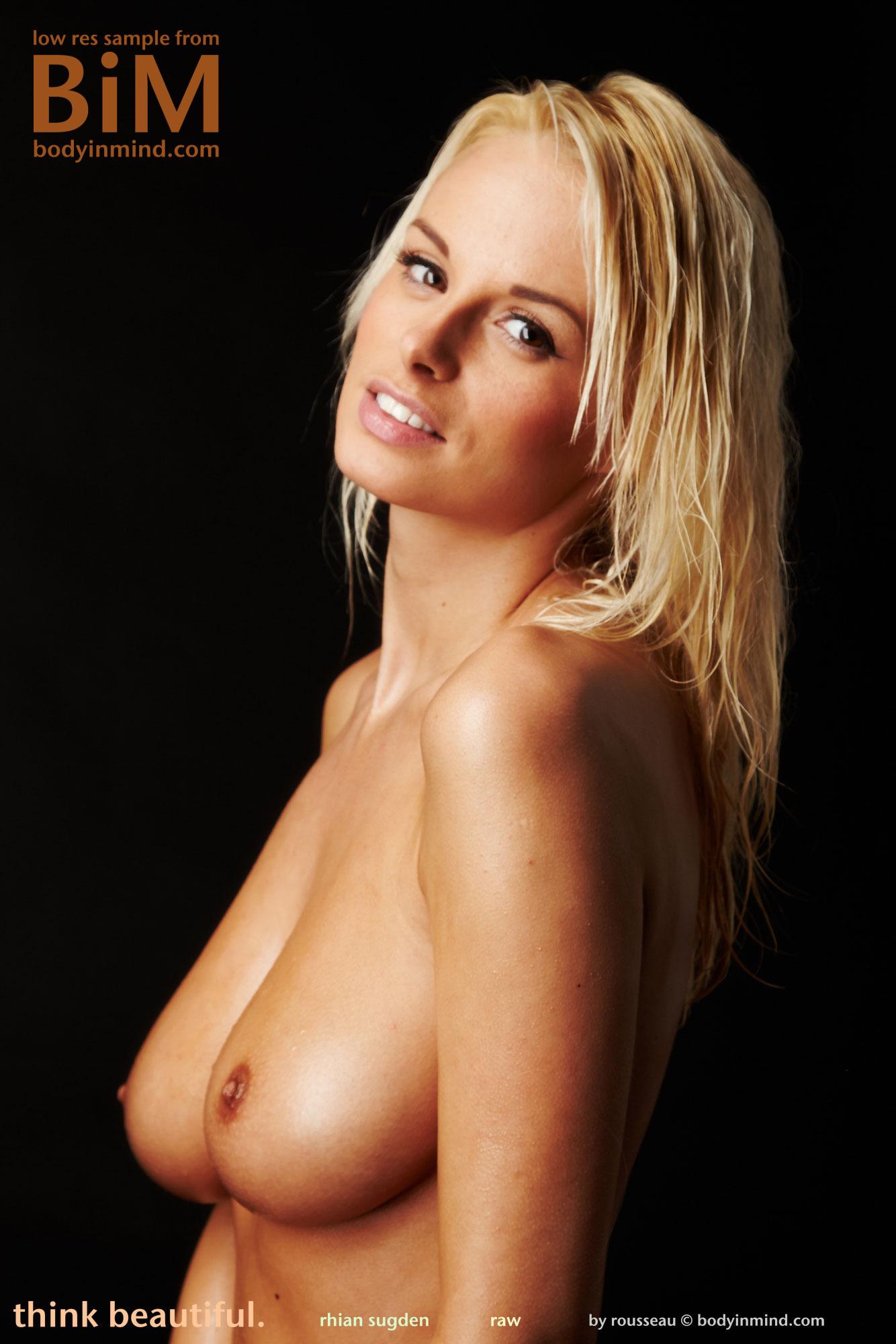 Frisky blonde rubs her breakfast cereal all over her titties 2