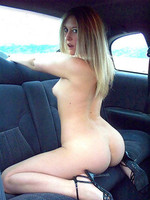 Sexy blonde exgirlfriend gettin off in the back of a taxicab