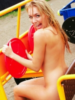 Hayley-Marie Coppin at the Playground