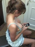 Talia Downblouse Texting