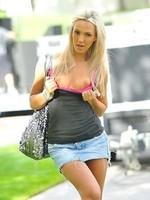 Sophia Knight jeans skirt pics