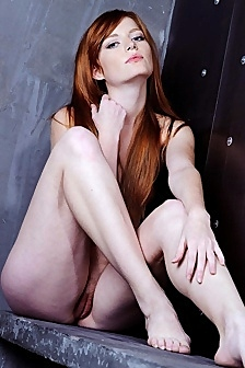 Nude Redhead Teen J Spreads Her Pussy