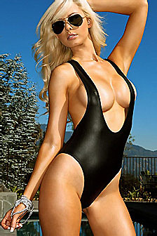 Tiffany Toth Black Swimsuit