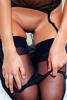 Cassandra Dawn Black Stockings