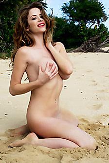 Emily Addison Red Bikini