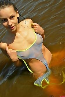 Vika At Lake Nude Beach