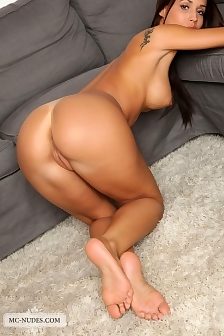 Satin Spreads Legs
