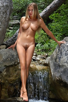 Busty April Is Naked Outdoor