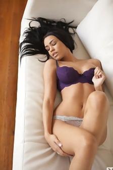 Andrea Leilani White Sofa