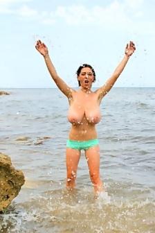 Anya Zenkova Beach Busty