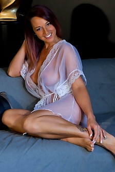 Nikki In White Sheer Robe
