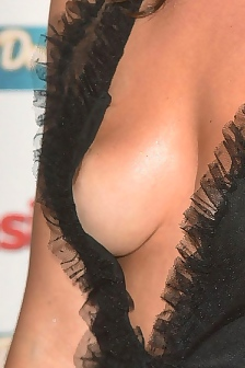 Olympia Valance Areola Peek On The Red Carpet