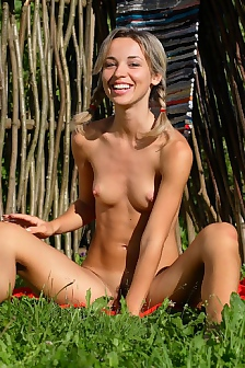 Teen Lia Outdoor Playing And Teasing
