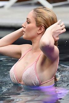 Heidi Montag Nipples In Wet Bikini Top