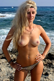 Danielle Topless On The Shore