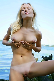 Vika Strips In The Nature