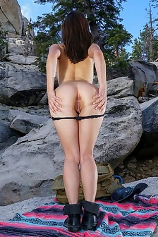 Jenna Sativa At Forest Walking
