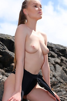 Angel B Naked Angel In Lava Field
