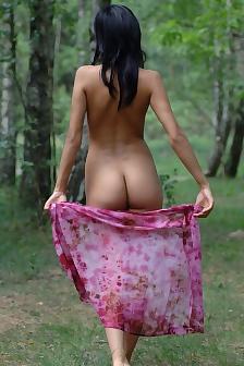 Adrienne Nude Forest Walk